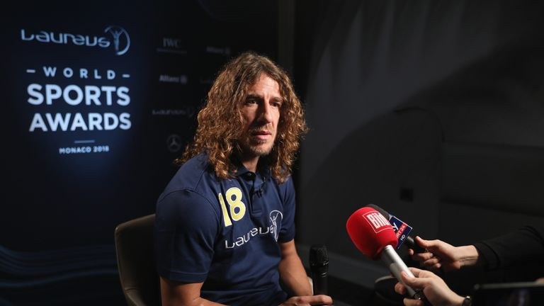 Puyol was speaking at the Laureus Sports Awards