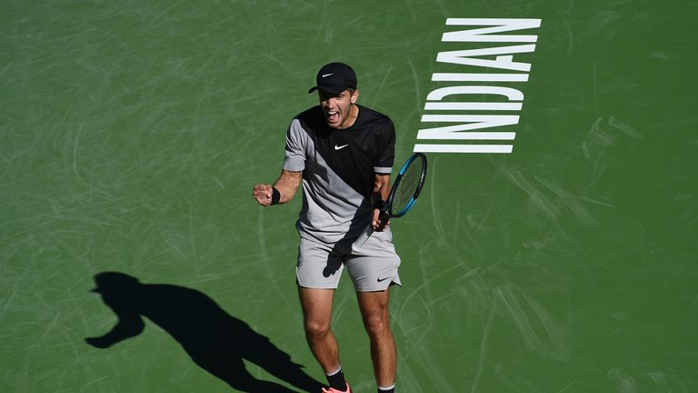 Roger Federer and Jeremy Chardy serve up something special at Indian Wells