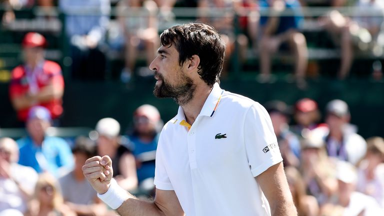 Jeremy Chardy came out on top in the all-French battle against Adrian Mannarino