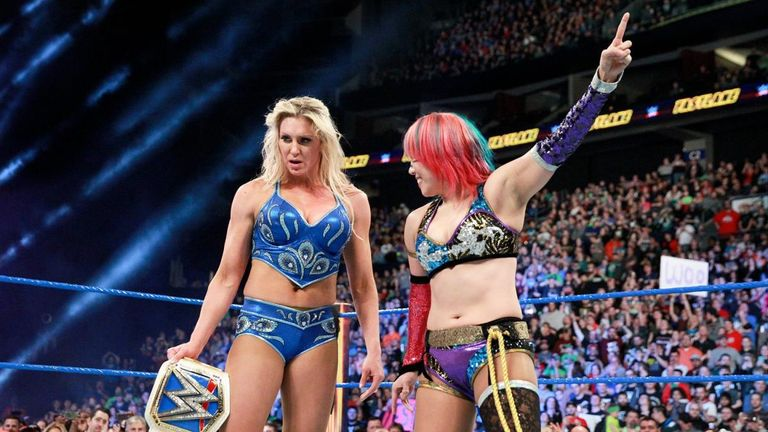 Asuka signalled her intention to challenge Charlotte Flair after her Fastlane title defence against Ruby Riott