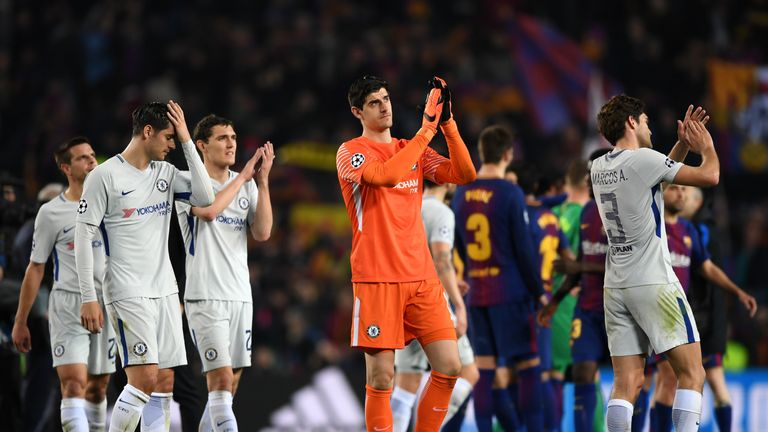 Chelsea were knocked out of the Champions League by Barcelona last year