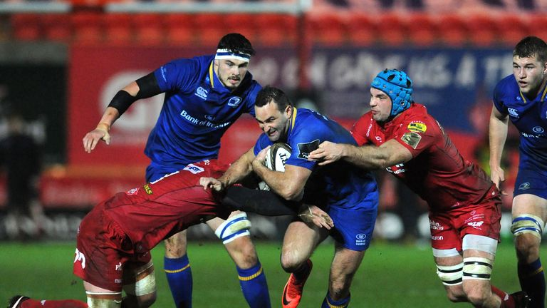 Dave Kearney on the attack  in Leinster's drawn match against Scarlets