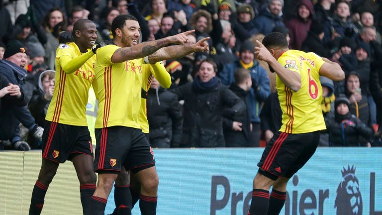 Troy Deeney's goal handed Watford a 1-0 win against West Brom