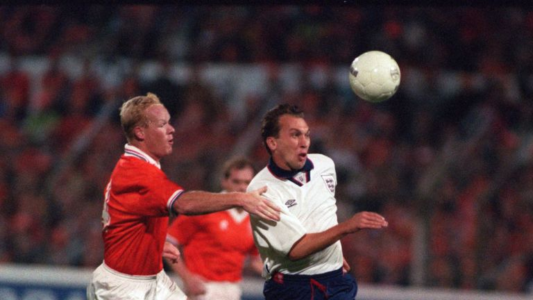 Ronald Koeman avoided a red card and penalty for this foul on David Platt in 1993