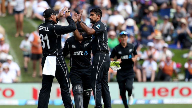Ish Sodhi played a pivotal part in New Zealand's fourth ODI win