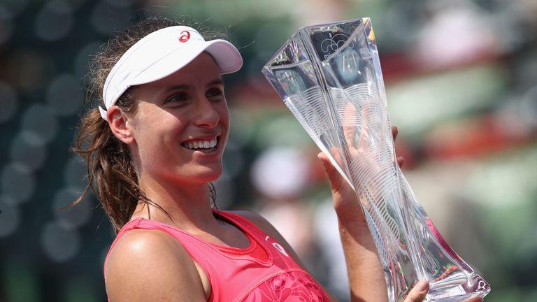 Johanna Konta defeated Caroline Wozniacki in the final last year