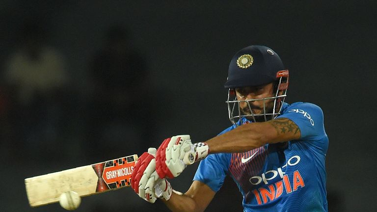 Manish Pandey hits out for India in their win over Sri Lanka