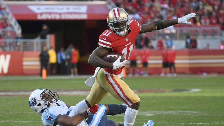 San Francisco 49ers wide receiver Marquise Goodwin signs new three-year deal