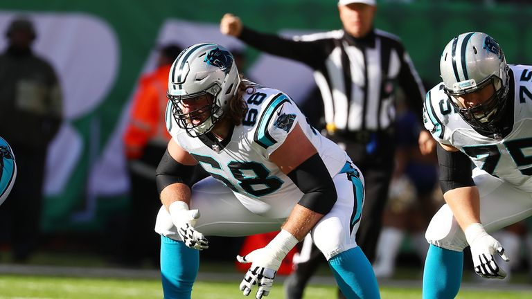 Andrew Norwell spent the past four seasons with the Carolina Panthers