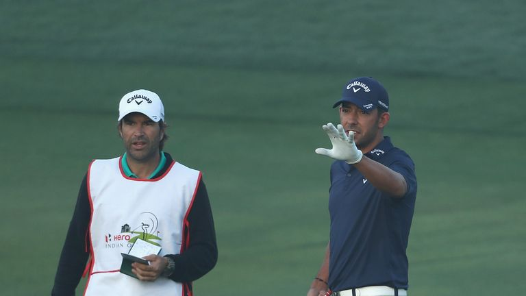 Sharma fires course record but still trails leader Grillo in India