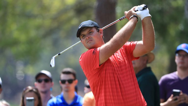 Patrick Reed moved up the leaderboard by making an eagle-three at the first