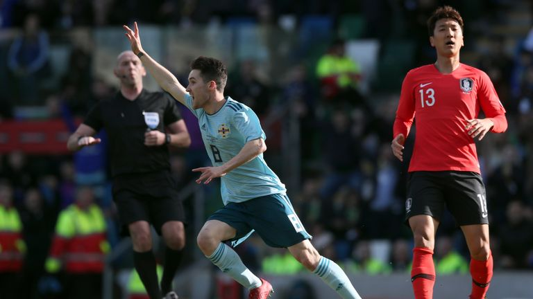 Michael O'Neill lavished praise on Paul Smyth after his winning goal against South Korea