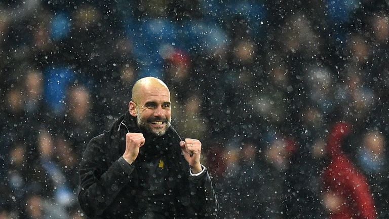 Guardiola has guided Manchester City to a 16-point lead at the top of the Premier League table