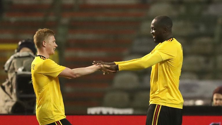 Kevin De Bruyne and Romelu Lukaku both scored for Belgium