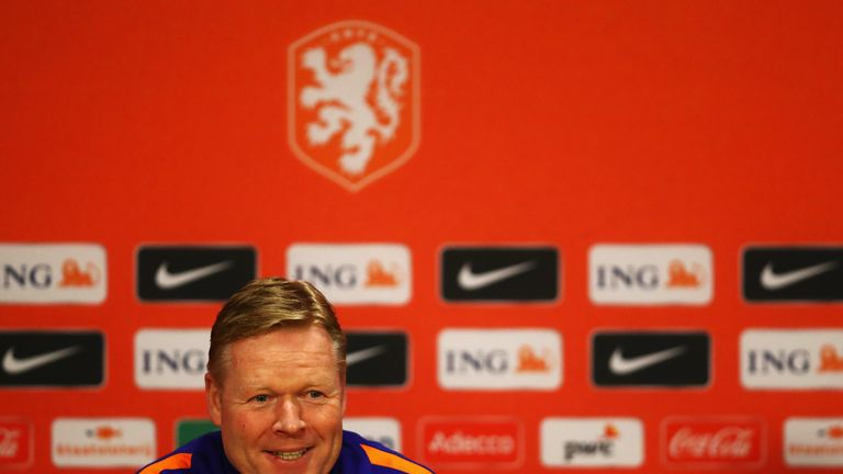 Ronald Koeman will take charge of his first Netherlands game this week