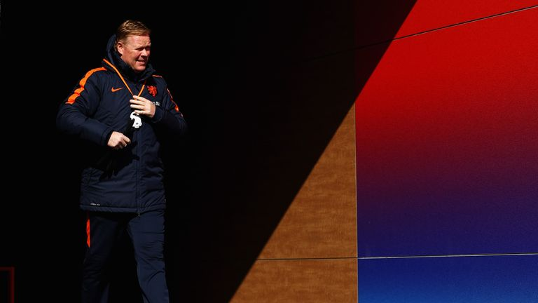Koeman will take charge of his first game as Netherlands boss at home to England