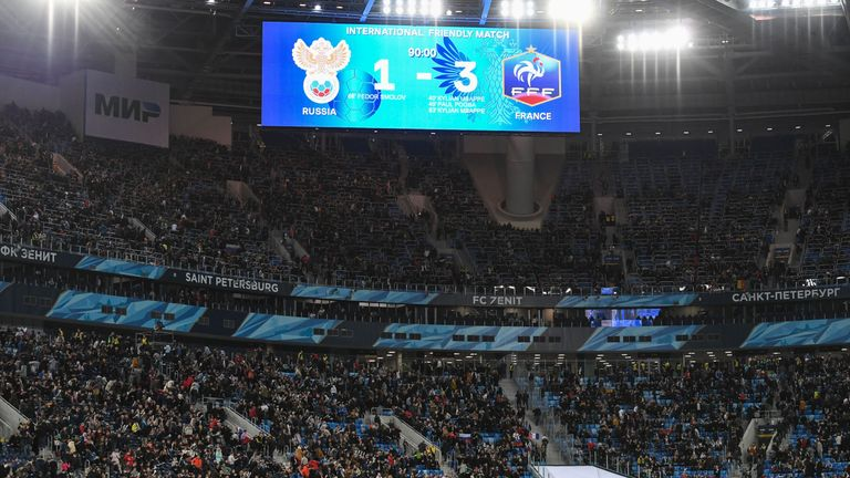 Russia lost 3-1 to France in the World Cup warm-up match in St Petersburg