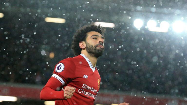 Mo Salah scored four goals against Watford on Saturday
