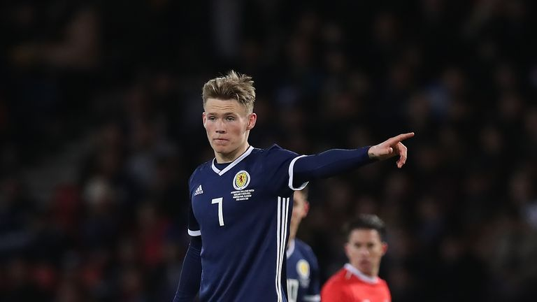 Scott McTominay is one of three players to  have withdrawn from the Scotland squad ahead of the trip to Hungary