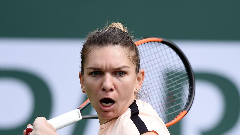 Simona Halep advanced to the quarter-finals in Indian Wells on Tuesday