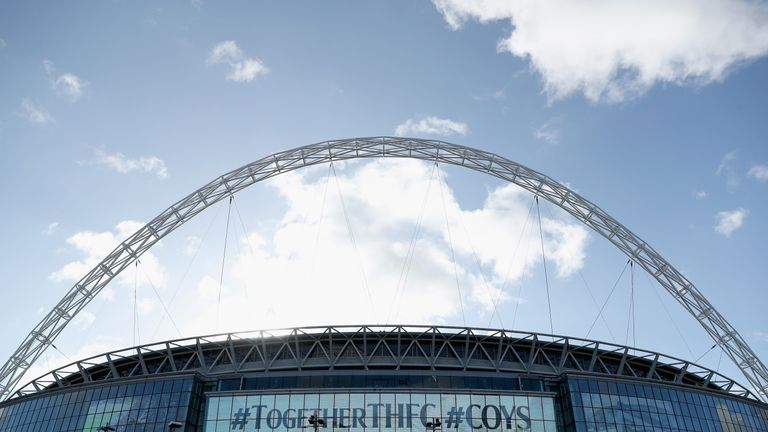 Tottenham have requested to play their first home game at Wembley next season