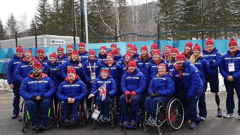 Team GB Winter Paralympics team