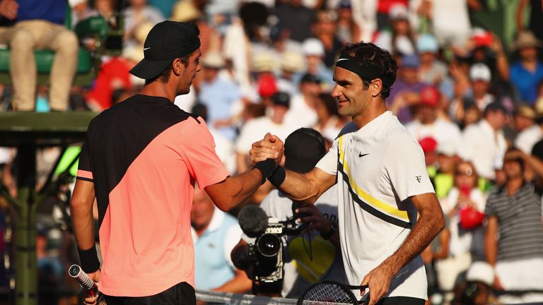 Thanasi Kokkinakis claimed a memorable win over Roger Federer in Miami