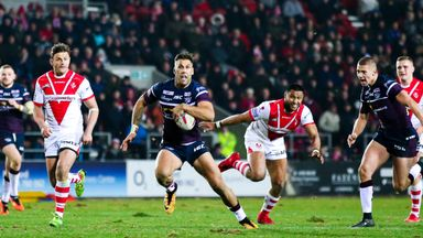 Joel Moon in action for Leeds against St Helens