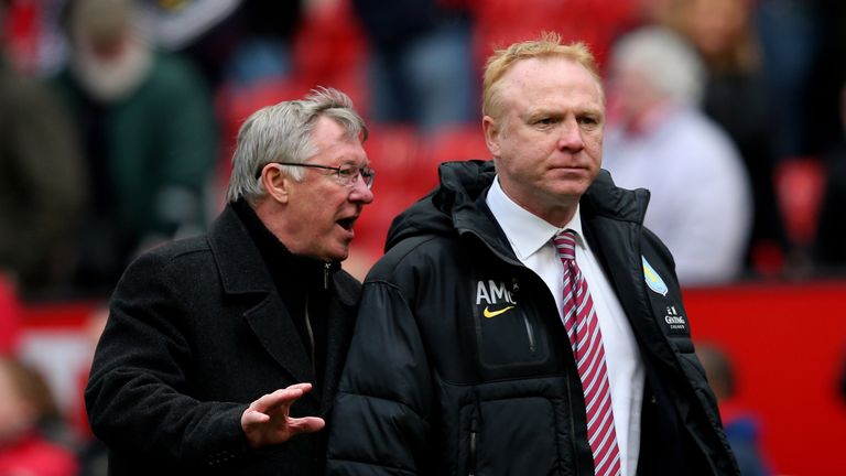 Alex McLeish has a long relationship with former Manchester United manager Sir Alex Ferguson