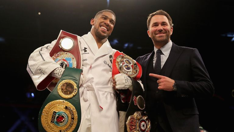 Eddie Hearn has started talks for an Anthony Joshua-Deontay Wilder fight