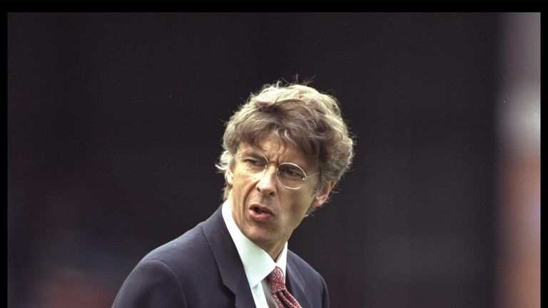 Wenger joiend Arsenal after a two-year spell as manager of Japanese side Nagoya Grampus Eight