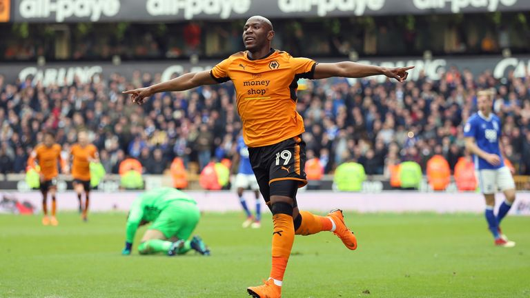 Benik Afobe played for one year at Wolves before joining Bournemouth for £10m in January 2016