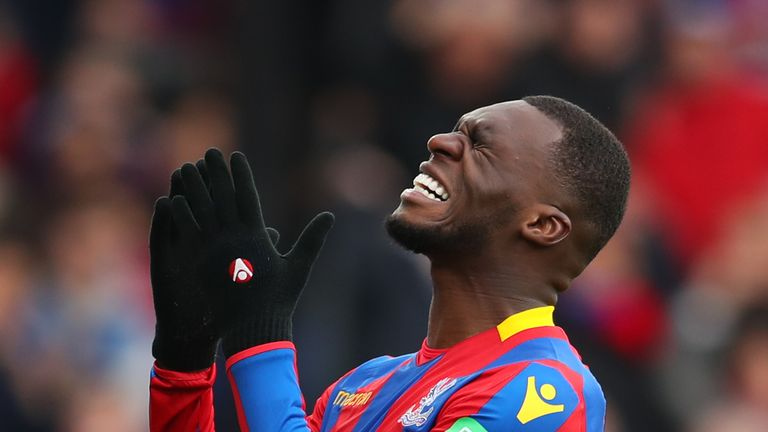 Crystal Palace frustrated after Wilfried Zaha is denied penalty and booked