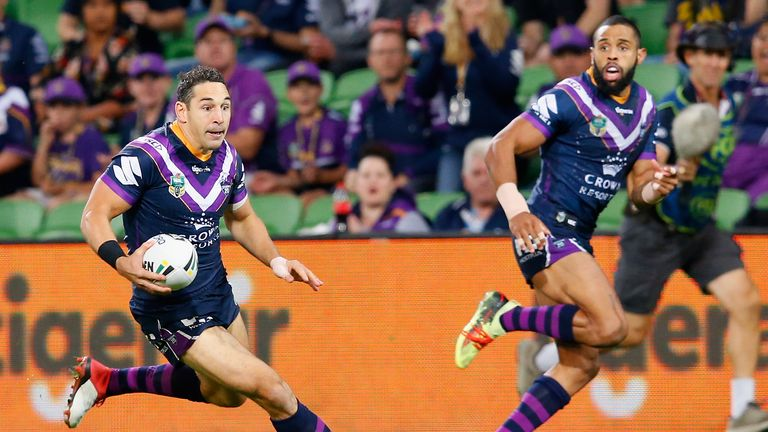 Billy Slater in action for the Melbourne Storm
