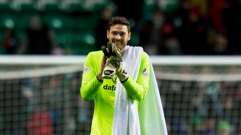 Craig Gordon was back in action for Celtic against Dundee
