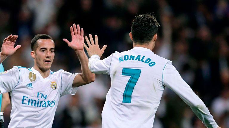 Cristiano Ronaldo celebrates scoring the equaliser