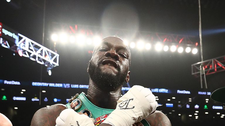 Wilder has been talking up the fight heavily on social media