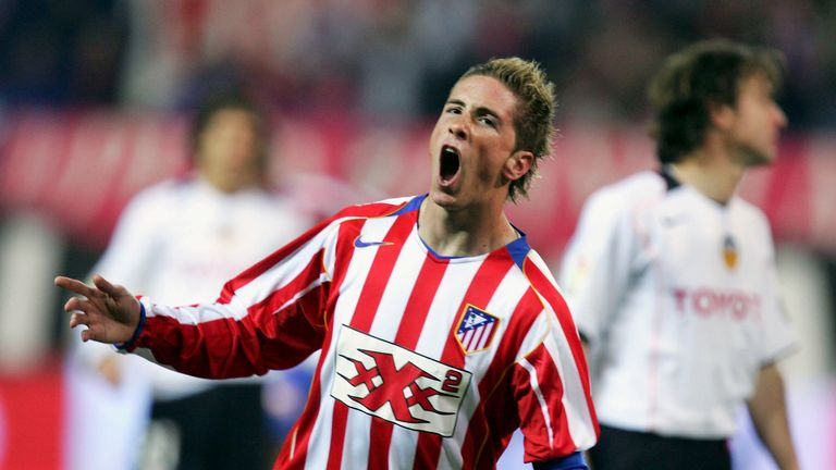 Fernando Torres was given the captain's armband at Atletico Madrid aged 19