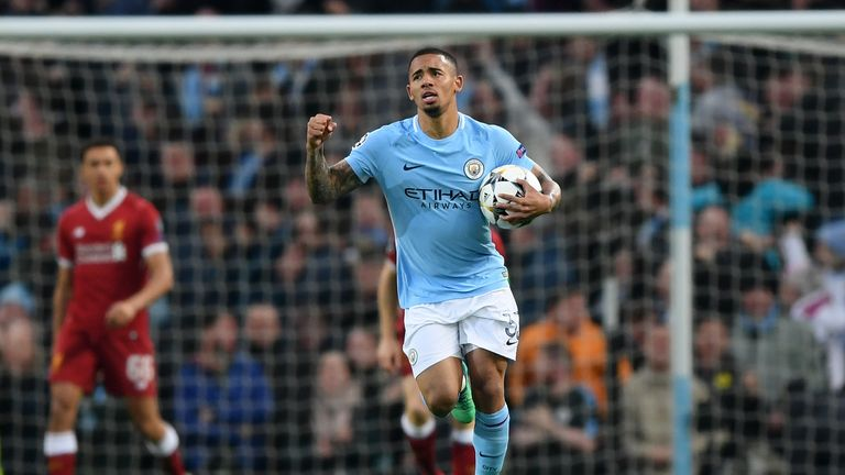 Gabriel Jesus has scored 13 goals in 36 appearances for Manchester City this season