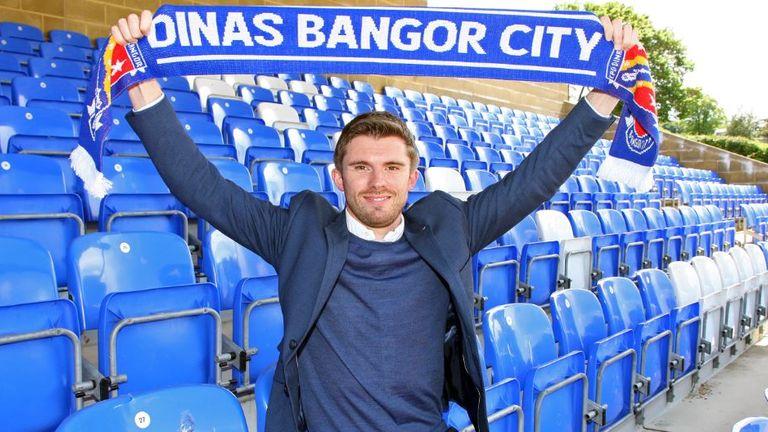 Nicholson has had a promising season with Bangor City [Credit: Richard Birch]