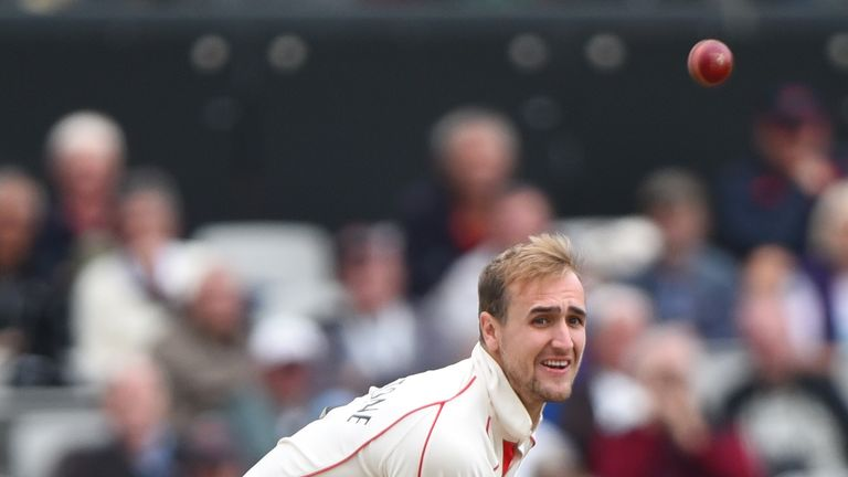 Lancashire captain Liam Livingstone took three wickets to end the Nottinghamshire innings
