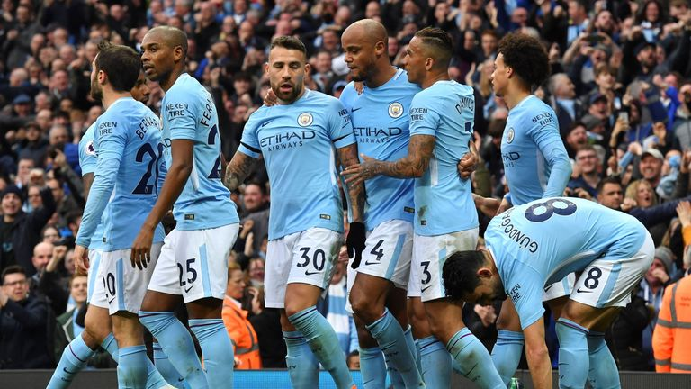 Manchester City won the title with five games to spare