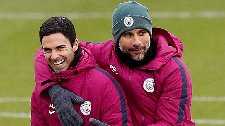 Arteta is part of Pep Guardiola's coaching staff at Manchester City