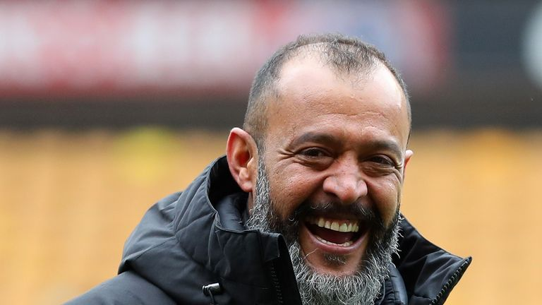 Wolves head coach Nuno Espirito Santo guided Wolves to the Premier League in his first season in charge
