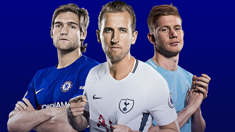 Marcos Alonso, Harry Kane and Kevin De Bruyne feature in the PFA Premier League Team of the Year