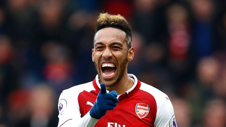 Pierre-Emerick Aubameyang levelled for Arsenal after Shane Long's opener for Southampton