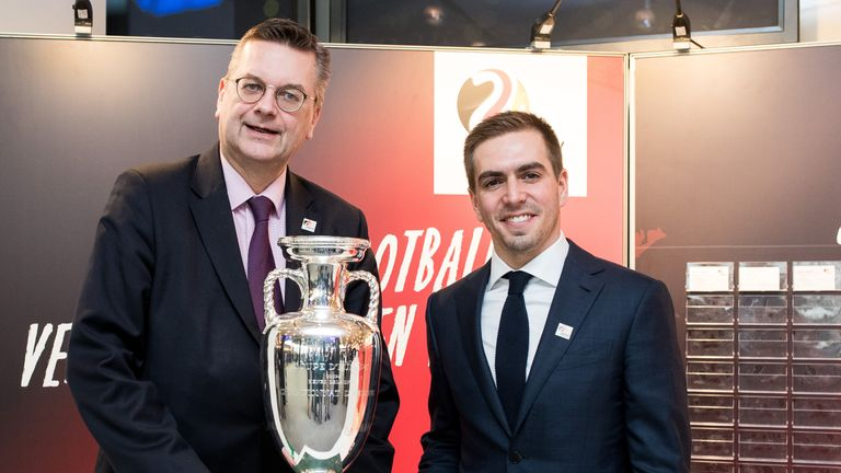 DFB president Reinhard Grindel and Philipp Lahm submitted Germany's bid