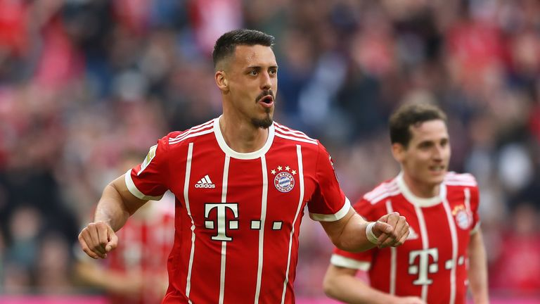 Sandro Wagner scored twice for Bayern Munich on Saturday