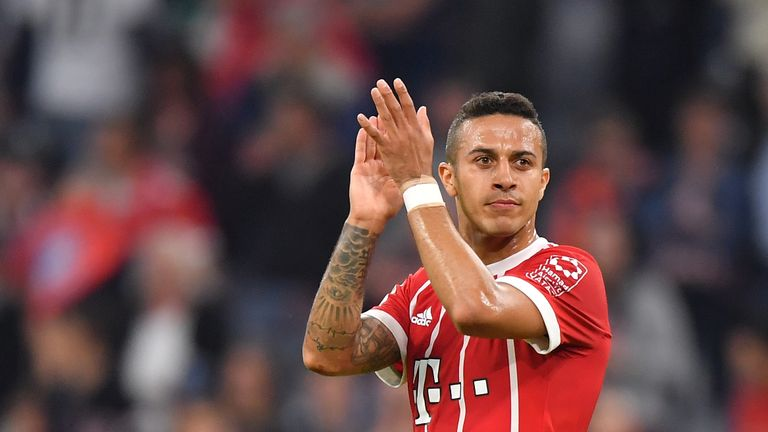 Thiago Alcantara has been linked with Manchester United