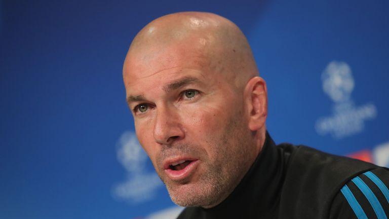 Zinedine Zidane has played down talk of a move for Neymar